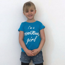 T-shirt Enfant I am a PistenBully Girl