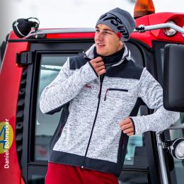 Veste en tricot polaire pour homme au design PistenBully
