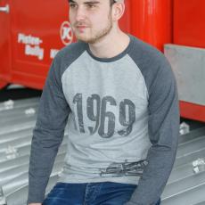 Retro Herren Langarm T-Shirt 1969