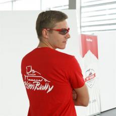 T-shirt da uomo rossa